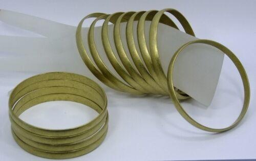 Raw Brass Solid Domed Bracelet Bangle Blanks 1//4 inch Pkg Of 12