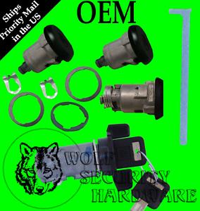 GM-OEM-Black-Ignition-Key-Switch-Cylinder-amp-Door-amp-Trunk-Lock-Set-2-GM-Keys
