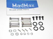 YY-MADMAX ALUMINUM WHEEL HEX EXTENSIONS FOR TRAXXAS SLASH SILVER