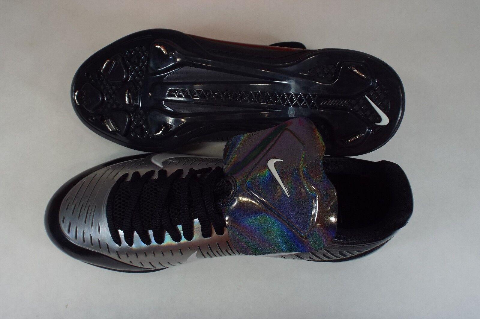 New New New Mens 9 NIKE Japan Shado Silver Black Metal Cleats Black 630719-410 be5cae