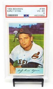 1954-Bowman-164-HOF-Indians-EARLY-WYNN-Vintage-Baseball-Card-PSA-4-VG-EX