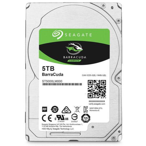 1 von 1 - Seagate Festplatte 5000GB 5 TB 2,5 Zoll SATA3 interne Notebook ST5000LM000 128MB