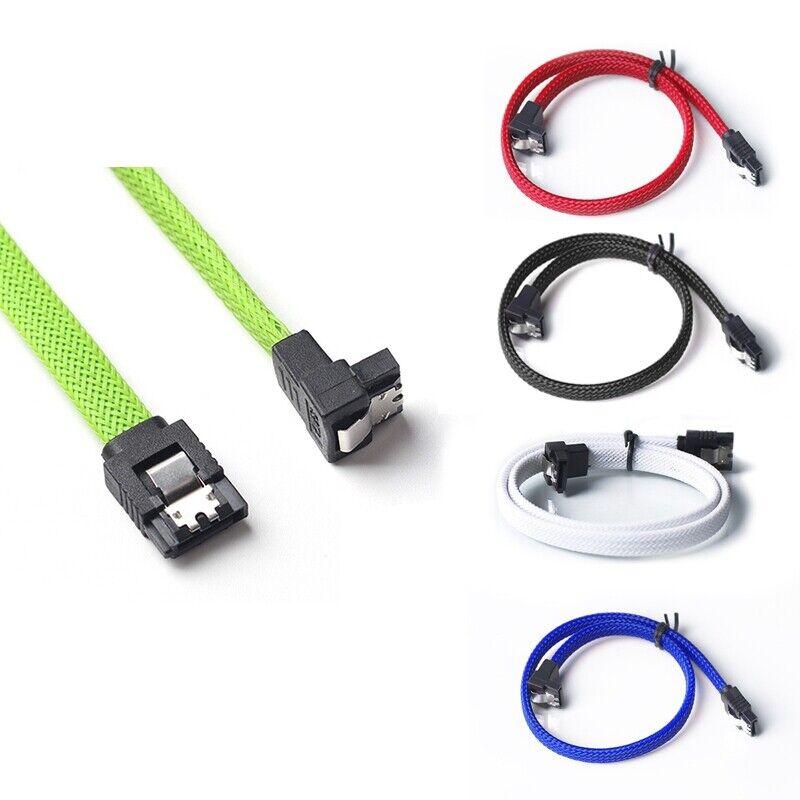 Blue yan 18 SATA 3.0 Cable SATA3 III 6GB//s Right Angle Serial ATA SSD Hard Drive