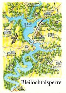 Ak Landkarte Map Ddr Bleilochtalsperre Saalburg Roppisch