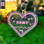miniatura 1 - BTS merchandise Army Loveheart keychain - 2 Variations | Kpop Keyring