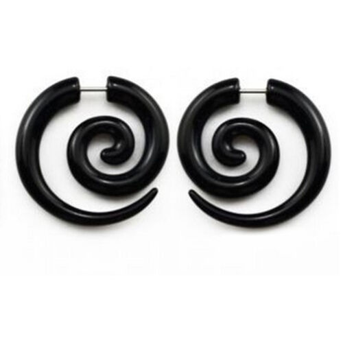 Acrylic Spiral Gauge Ear Plug Fake Cheater Stretcher Flesh Earrings Piercing RS