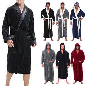 523b8ade06 Men s Winter Warm Plush Lengthened Shawl Bathrobe Home Clothes Long ...