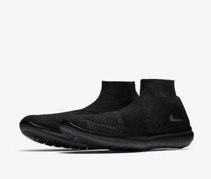 info for 891e6 a3517 Image is loading Nike-150-Free-RN-Motion-Flyknit-Black-Gray-