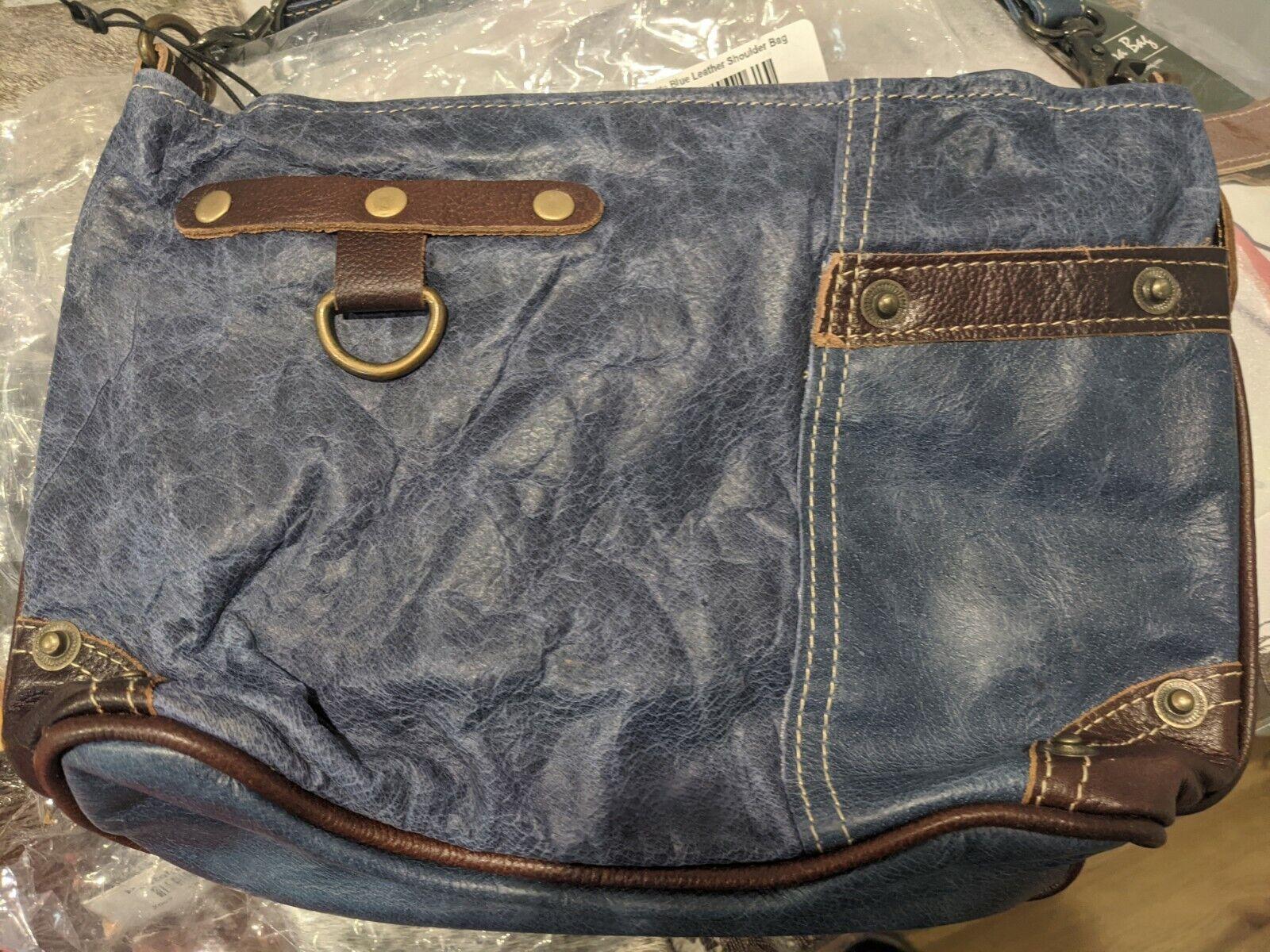 Myra Bag Myra Rivette Blue Leather Shoulder Bag