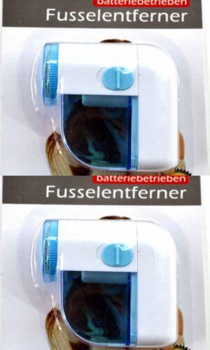 2x Fusselrasierer Textilrasierer Fusselentferner Batteriebetrieb  Wollrasierer