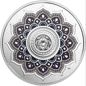 2018-Birthstone-April-Diamond-5-1-4OZ-Pure-Silver-Proof-Coin-Canada-w-Crystal