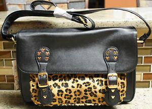 NWT Walt Disney World Parks MICKEY MOUSE Icon Animal Print Handbag Purse