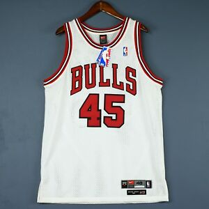 ba681bc1a298 100% Authentic Michael Jordan Bulls Nike  45 NBA Jersey Mens Size 48 ...