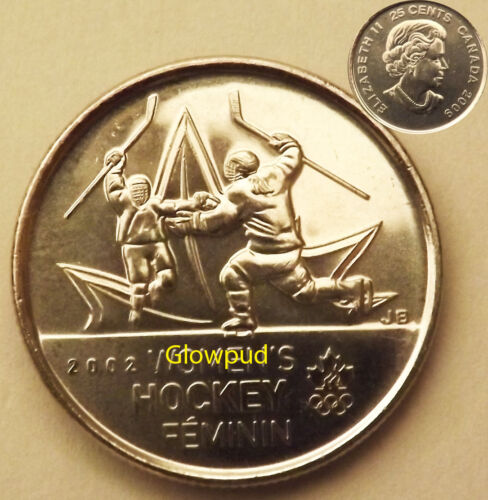 """CANADA COIN .25c VANCOUVER 2010 OLYMPICS /"""" WOMENS HOCKEY /"""" MOMENT #2 OF ALL TIME"""