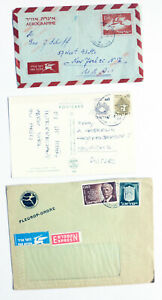 Israel-Cover-and-Postcard-3-Lot