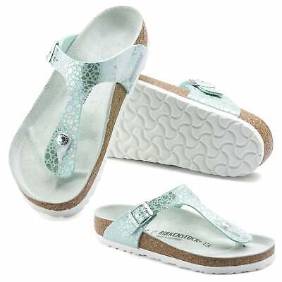 Birkenstock Gizeh Metallic Stones Toe Post Thong Style Sandals Lilac Aqua Size | eBay