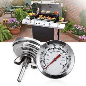 Grillthermometer Edelstahl Grill Einbau Thermometer analog Haube Deckel Schraube