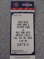 L#408 2015 NLCS Game 3 ticket New York Mets + Chicago Tribune with Daniel Murphy