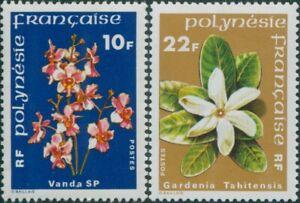 French-Polynesia-1979-Sc-300-303-SG288-289-Flowers-set-MNH