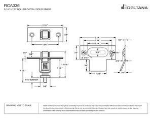 LOT-OF-2-Deltana-RCA336U15A-Antique-Nickel-Finish-ADJUSTABLE-ROLLER-CATCH