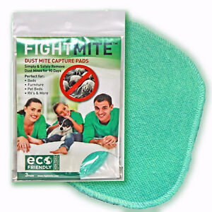 Fight-Mite-SMALL-HOME-4-PACK-Detection-Capture-amp-Removal-Pads-for-Dust-Mites