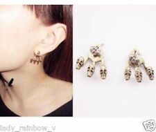 Fashion Design Vintage Retro Bronze Charm Skull Stud Earrings Antique plated top