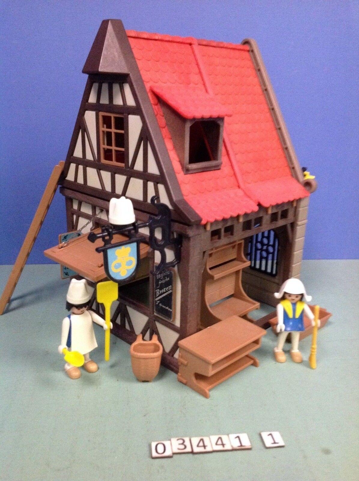 (O3441.1) Playmobil Bäckerei Mittelalter Ref. 3441 Jahr 77 - 81 Cplt