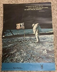 "Details about Vintage Original Neil Armstrong APOLLO 11 Moon Walk Poster  18""x24"" Rare 1970s"