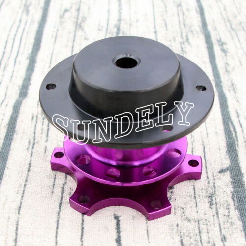 Steering Wheel Quick Release Hub Adapter Removable Snap Off Boss Kit Purple