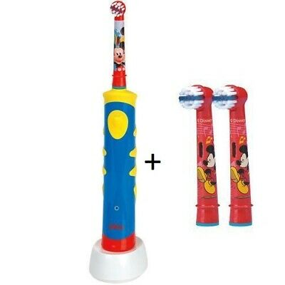 2er Stages Micky Maus Oral-B Elektrische Kinder Zahnbürste Advance Power Kids