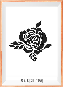 Flower Mylar Reusable Stencil Airbrush Painting Art Craft DIY Home Decor /& more