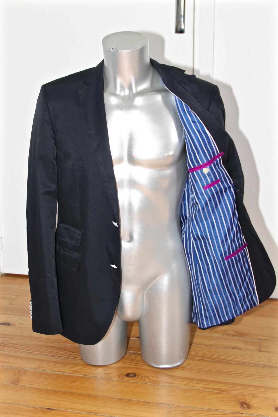 HUGO BOSS sweet giacca per abito slim fit encoton nylon blu navy TAGLIA 50