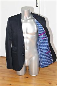 HUGO-BOSS-sweet-veste-de-costume-slim-fit-encoton-nylon-bleu-marine-TAILLE-50