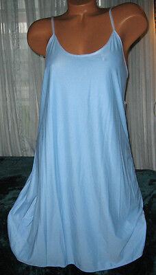 Stretch Nylon Nightgown Slip Chemise 1X 2X 3X 4X Plus Powder Blue Short Gown