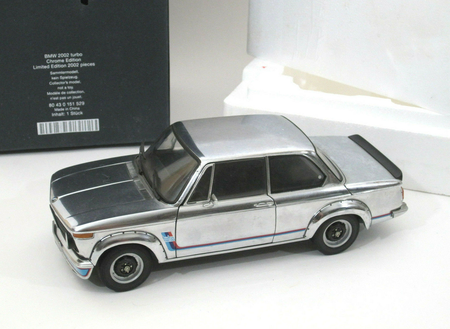HTF 1 18 Kyosho BMW 2002  Turbo Diecast Model LE Chrome Dealer Model w  Box  meilleure mode