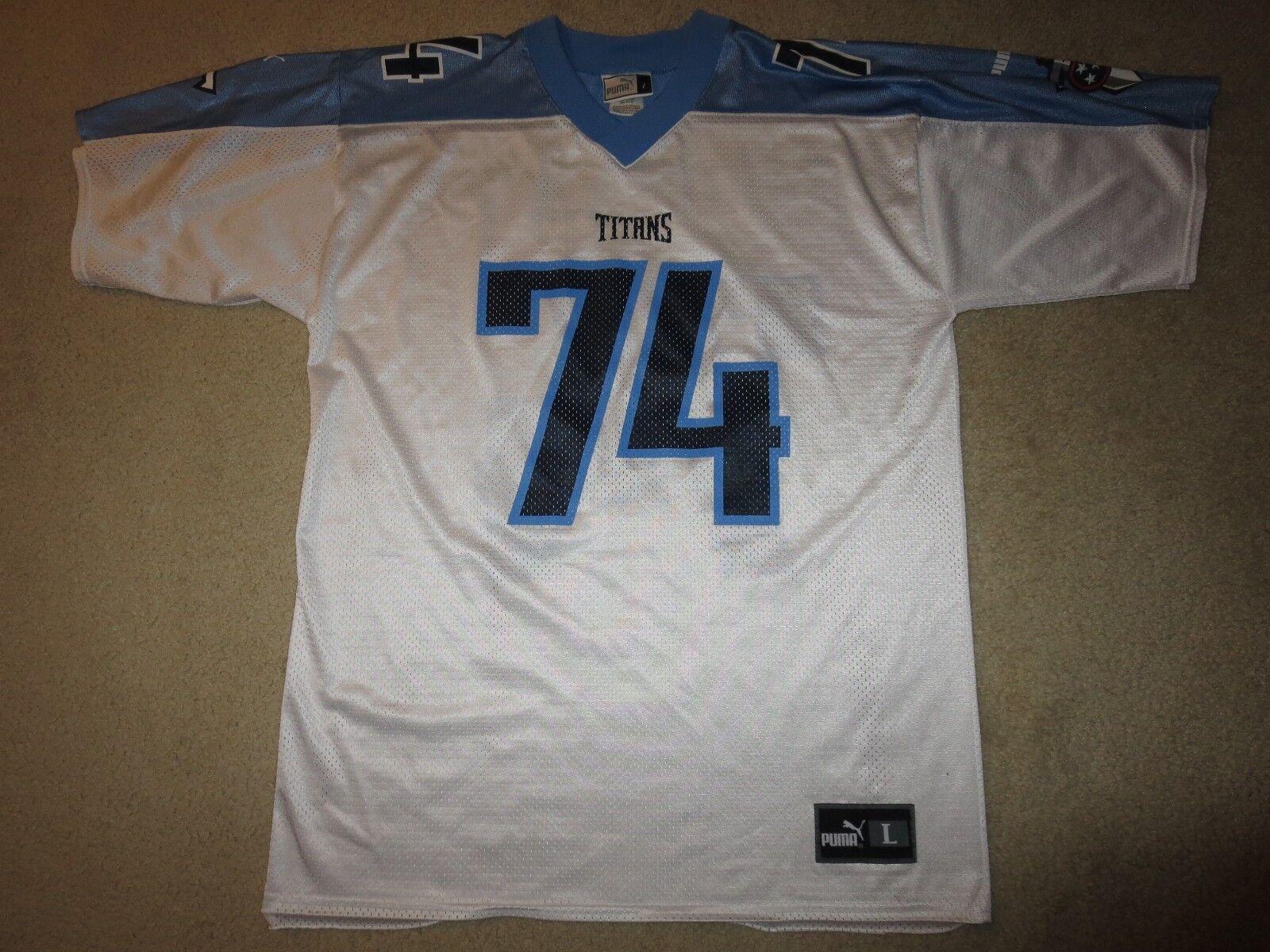 Bruce Matthews  74 Tennessee Titans NFL Puma Trikot Trikot Trikot L L Vintage 25985b