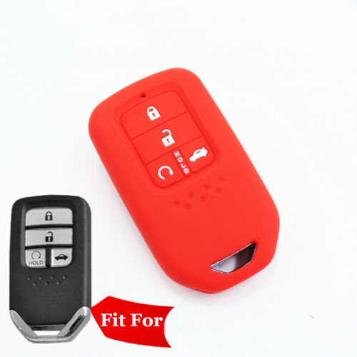 Fit Honda Accord keyless Smart Remote Key Fob Silicone Case Cover 4 Buttons