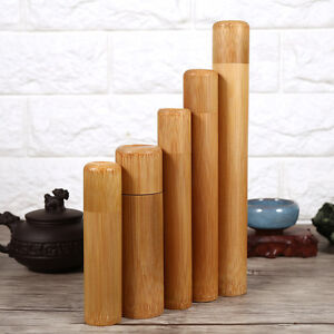 Image Is Loading Kitchen Tea Bamboo Tube Coffee Sugar Storage Canisters