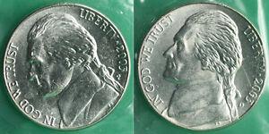 2003-P-Et-D-Jefferson-Nickels-2-Piece-de-Monnaie-UNC-Violoncelles-Nous-Mint-Kit