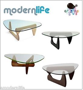 noguchi tribeca coffee table tempered glass : available in 4 colors