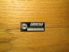 Fiat Metal Display Plaque Diecast 1/24 1/18 1/43 Spider 124 130 500 Abarth X/19