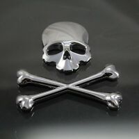 Metal Sticker Emblem Decals Skeleton Skull For Honda Yamaha Harley Ducati Suzuki