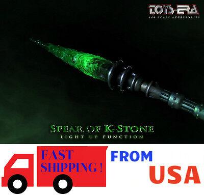 1//6 SCALE Green Kryptonite Spear LED Light Up Batman Superman Justice