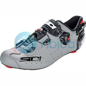 58b8ba426 New 2019 SIDI WIRE 2 MATT Road Cycling Shoes Grey Black EU40-44.5 US ...