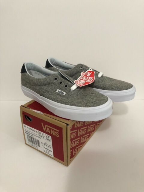 2e5d2e3fa1 Vans Era 59 Varsity Gray White New Skate Shoes Unisex Men s 4 Women s ...