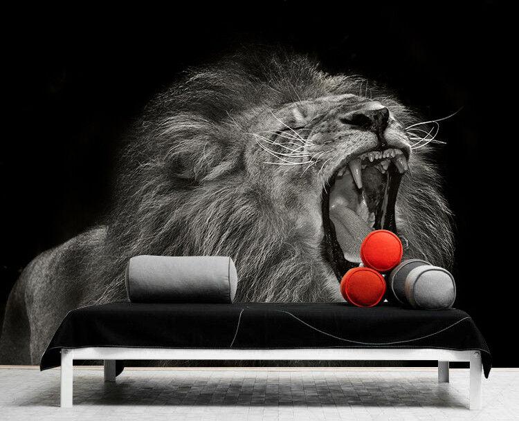 3D Natürlicher Tier Löwe 8054 Tapete Wandgemälde Tapeten Bild Familie DE Lemon