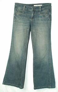 Glitter-Pockets-BIG-Wide-FLARE-Leg-LOW-Rise-DKNY-Trouser-Jeans-8