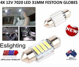 4X-12V-31MM-FESTOON-7020-4-LED-CAR-UTE-4WD-INTERIOR-DOME-MAP-LIGHT-BULB-GLOBE