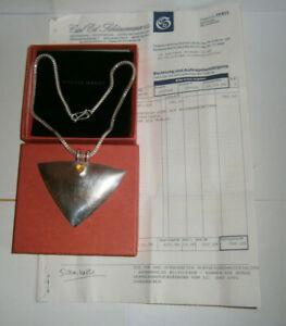 Herrlich Martin Hardt Schmuck,ausgefallendes Collier 925,box,kaufnachweis