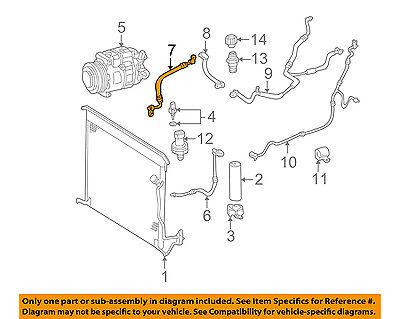 Compressor Line-AC Tube Hose 10436323 Chevrolet GM OEM Corvette A//C Condenser